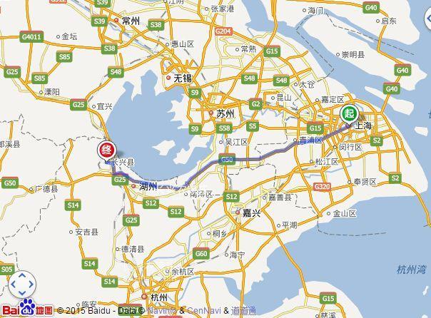 上海到长兴农家乐
